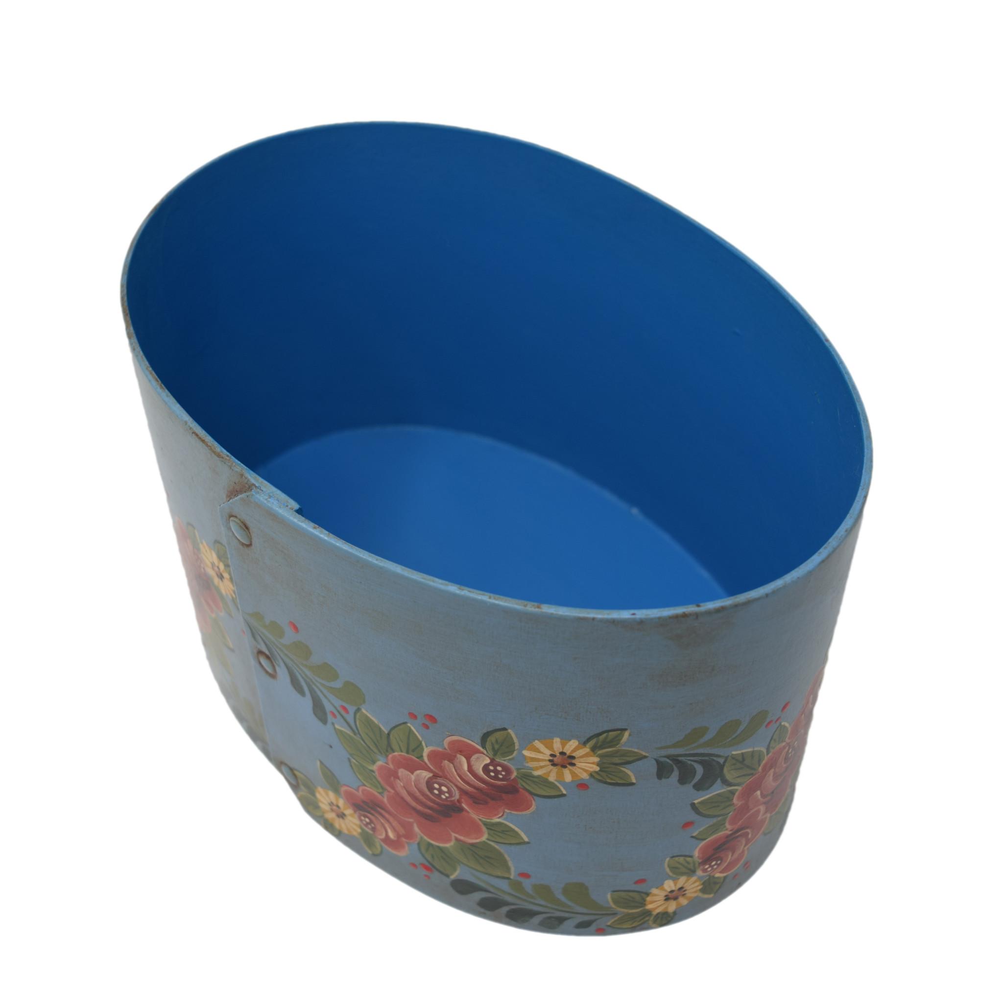 Oval Wedding Box Turquoise-2