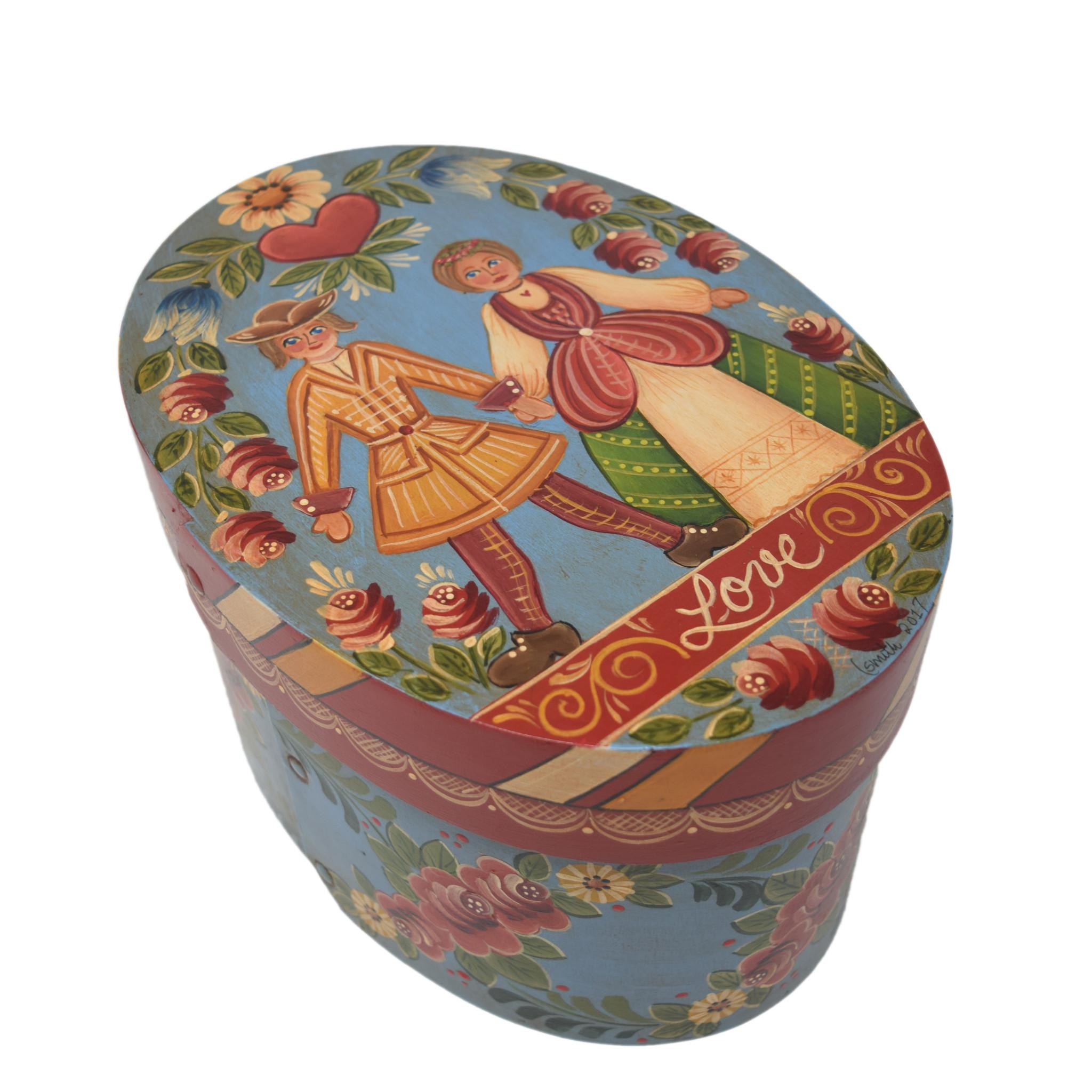Oval Wedding Box Turquoise-1
