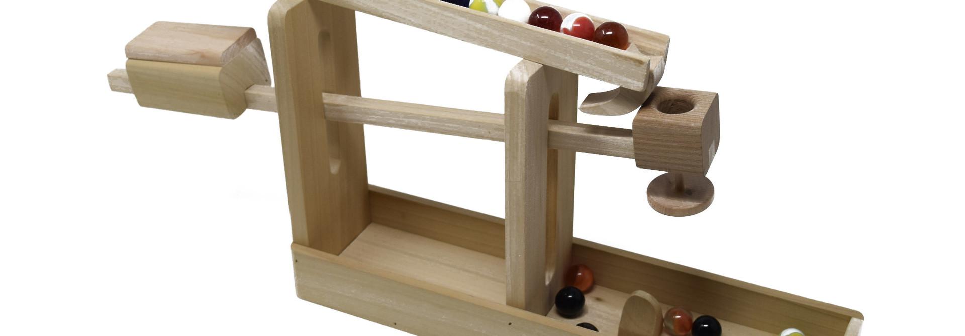 Wooden Marble Roller Machine Toy