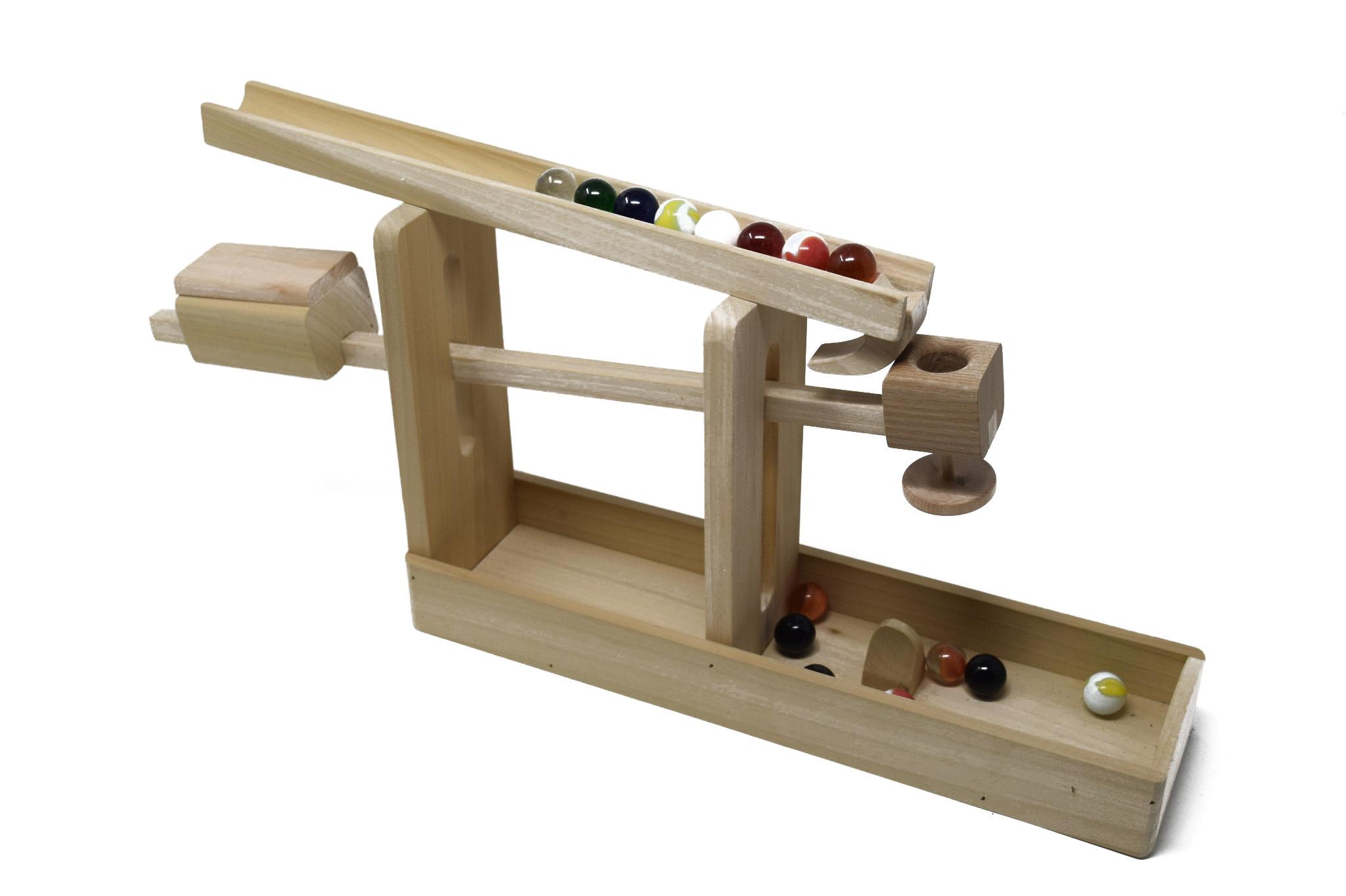 Wooden Marble Roller Machine Toy-1
