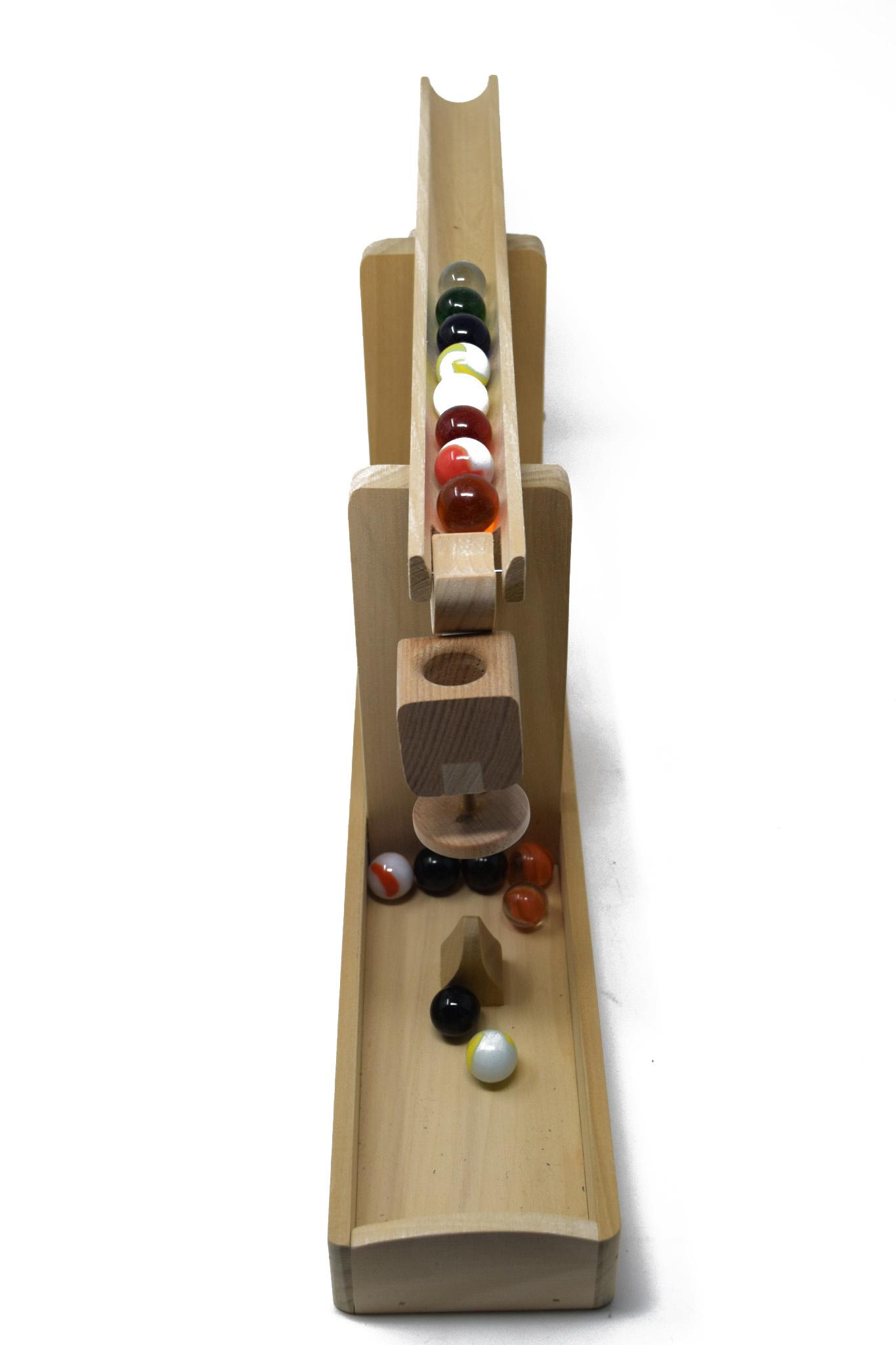 Wooden Marble Roller Machine Toy-2