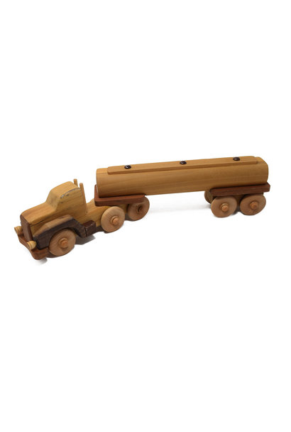Wooden Tanker Truck Toy