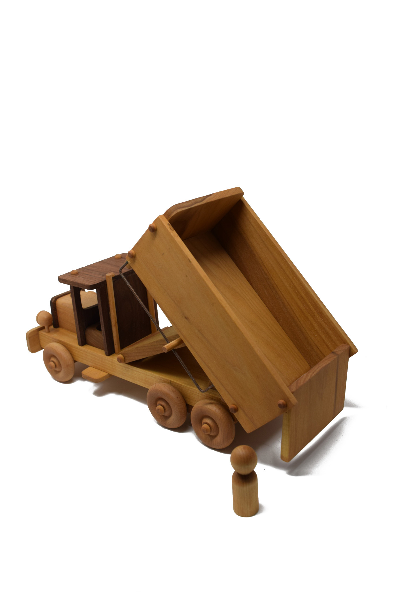 Wooden Dump Truck Toy-3