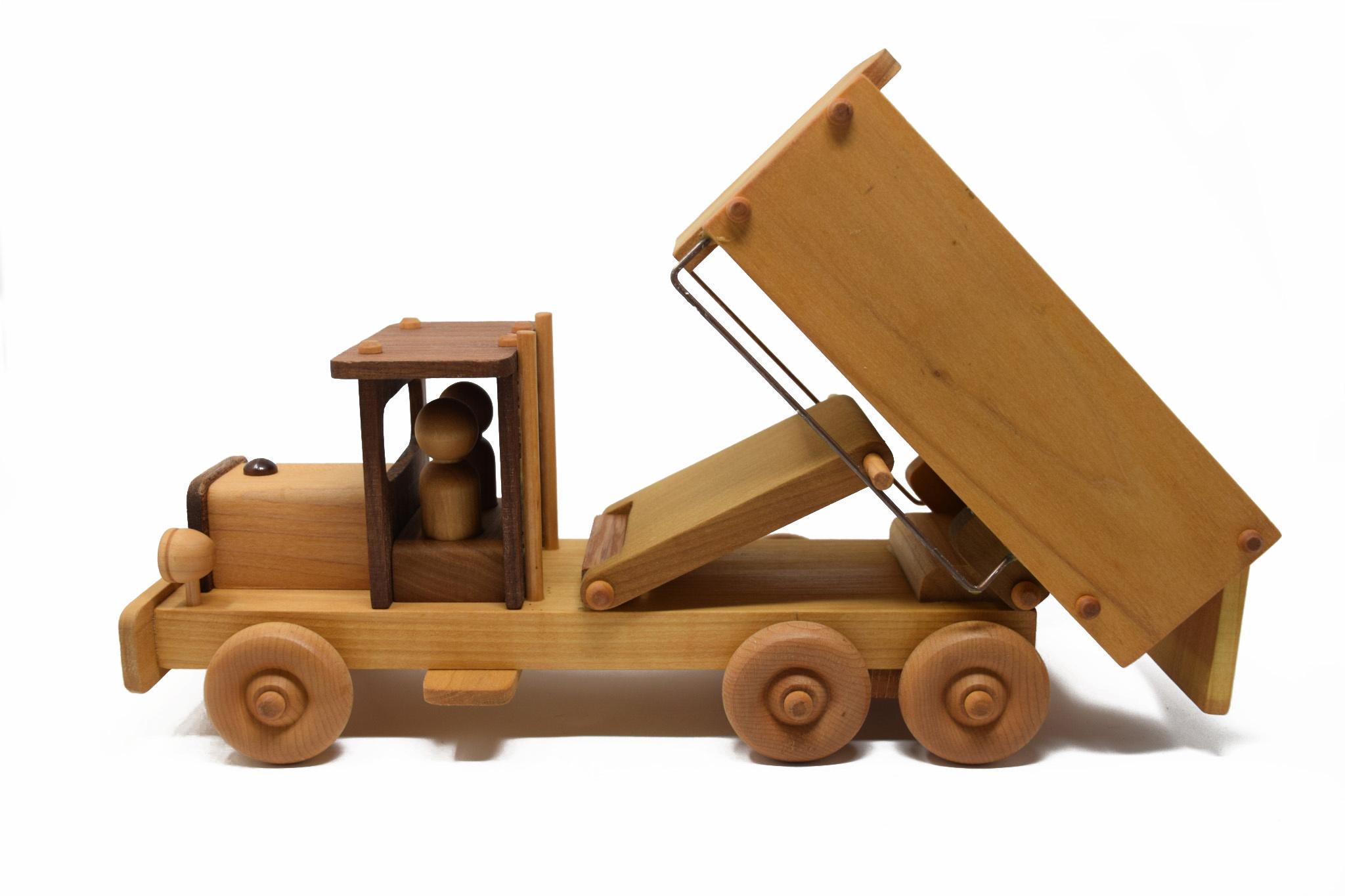 Wooden Dump Truck Toy-1