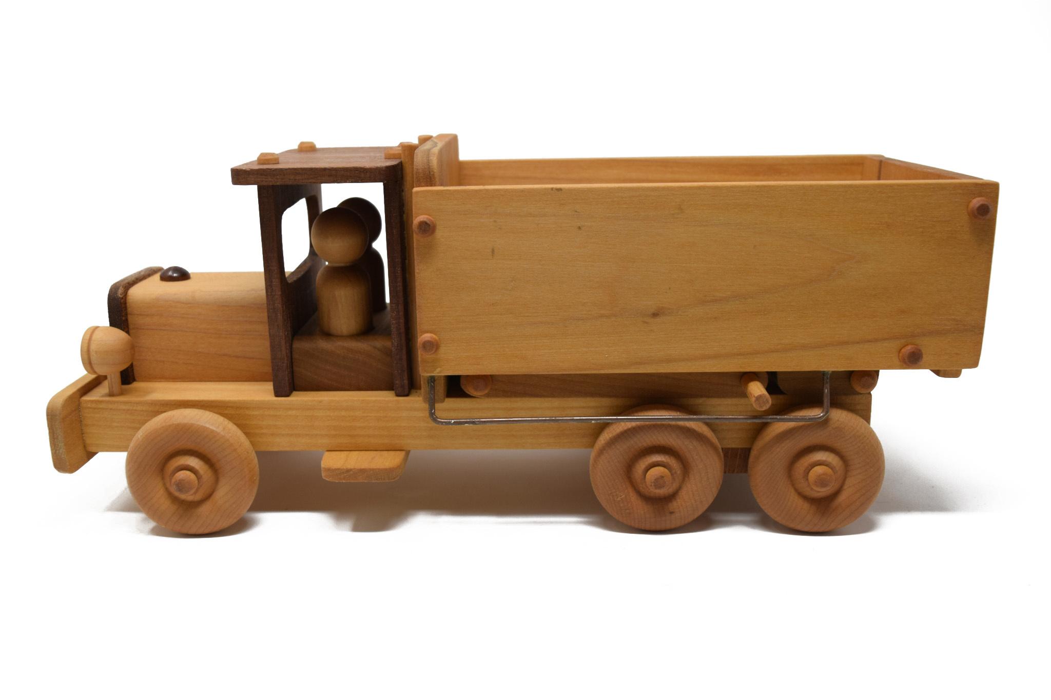 Wooden Dump Truck Toy-2