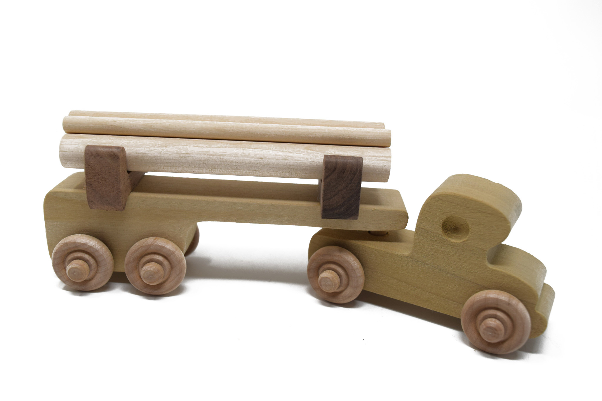 Wooden Log Truck Toy-3