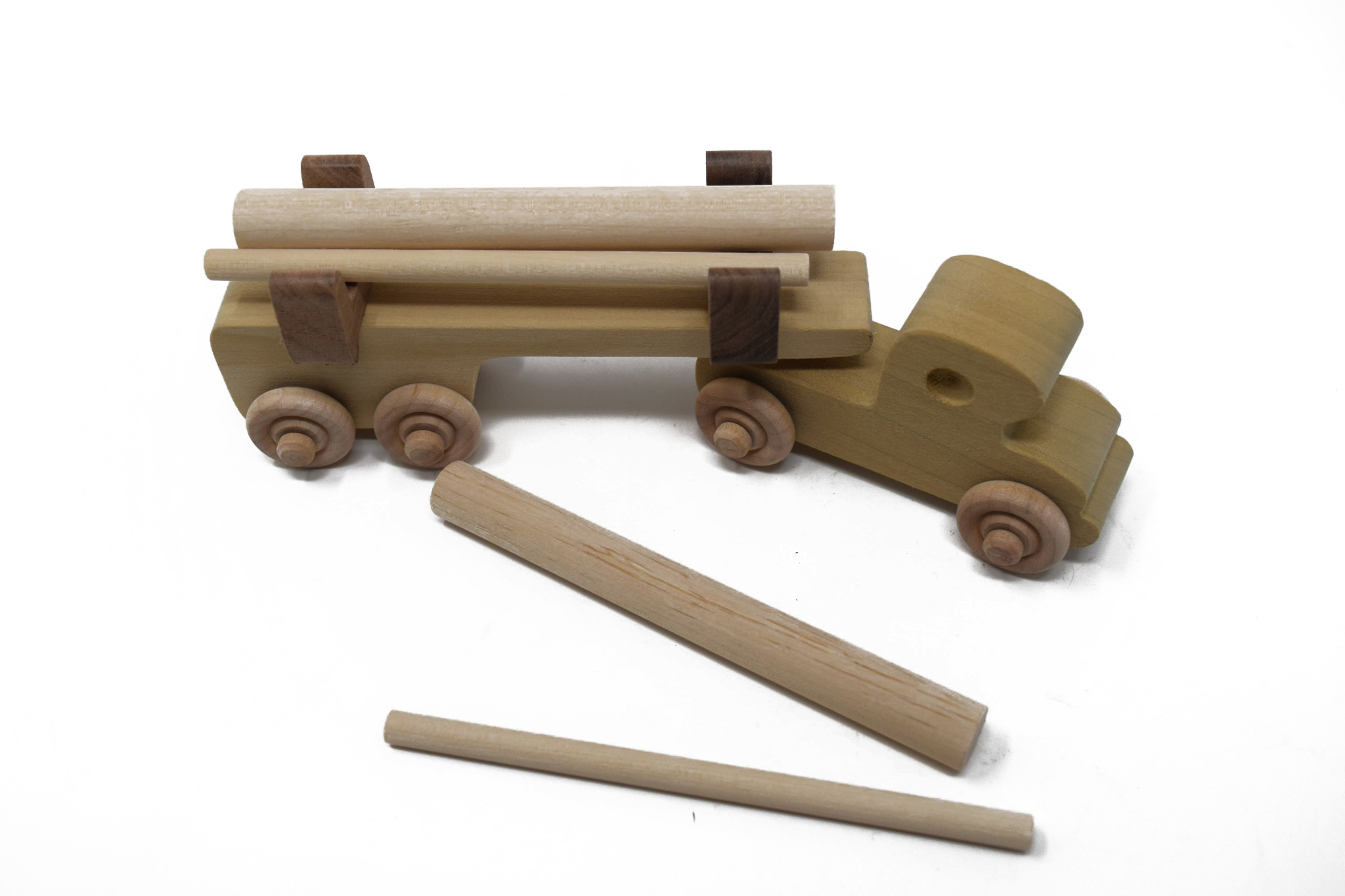 Wooden Log Truck Toy-4
