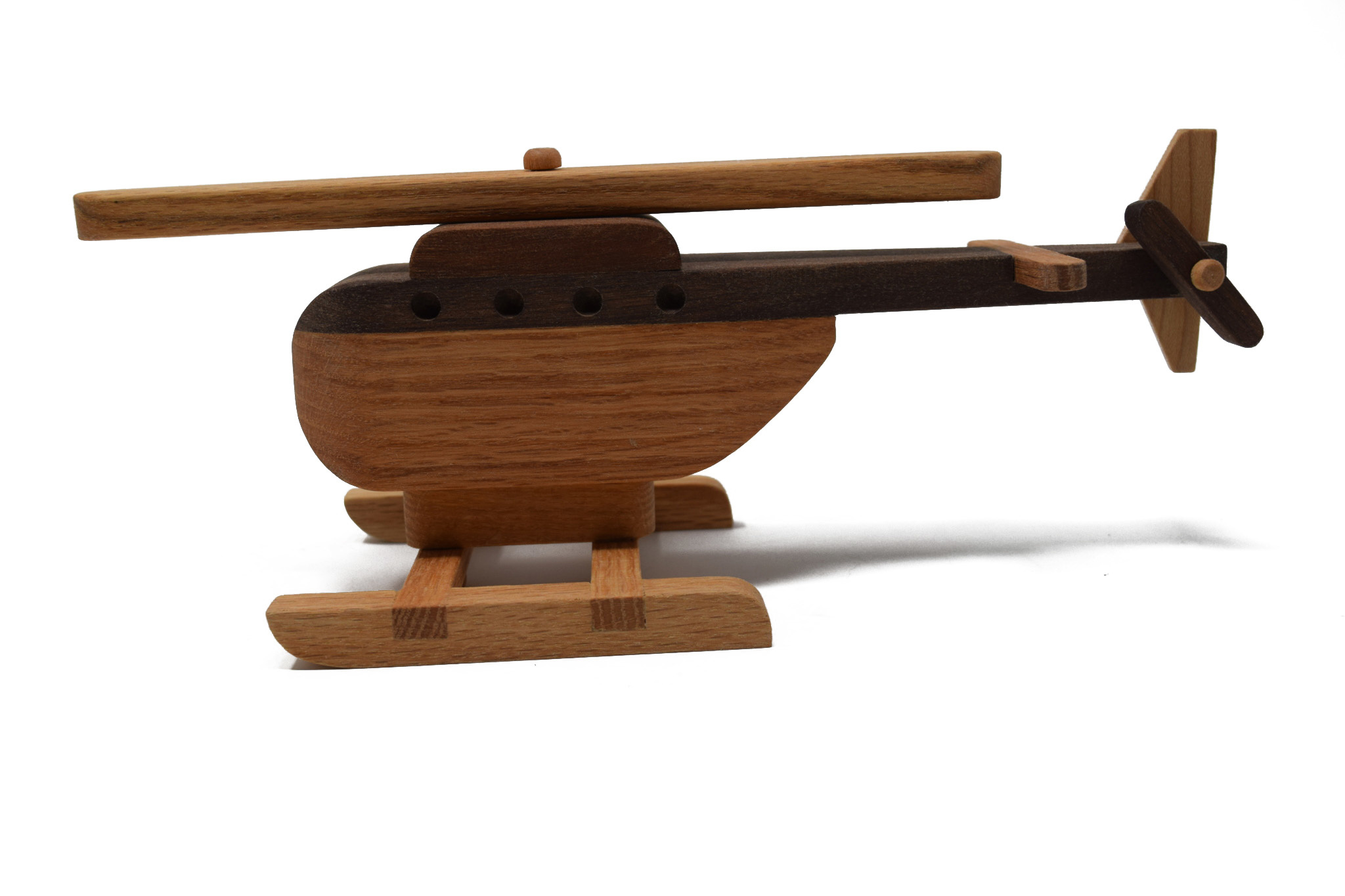 Wooden Helicopter Toy-2