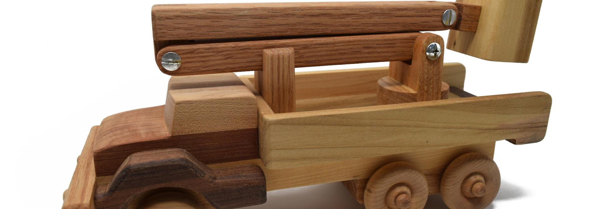 Wooden Bucket Truck Toy