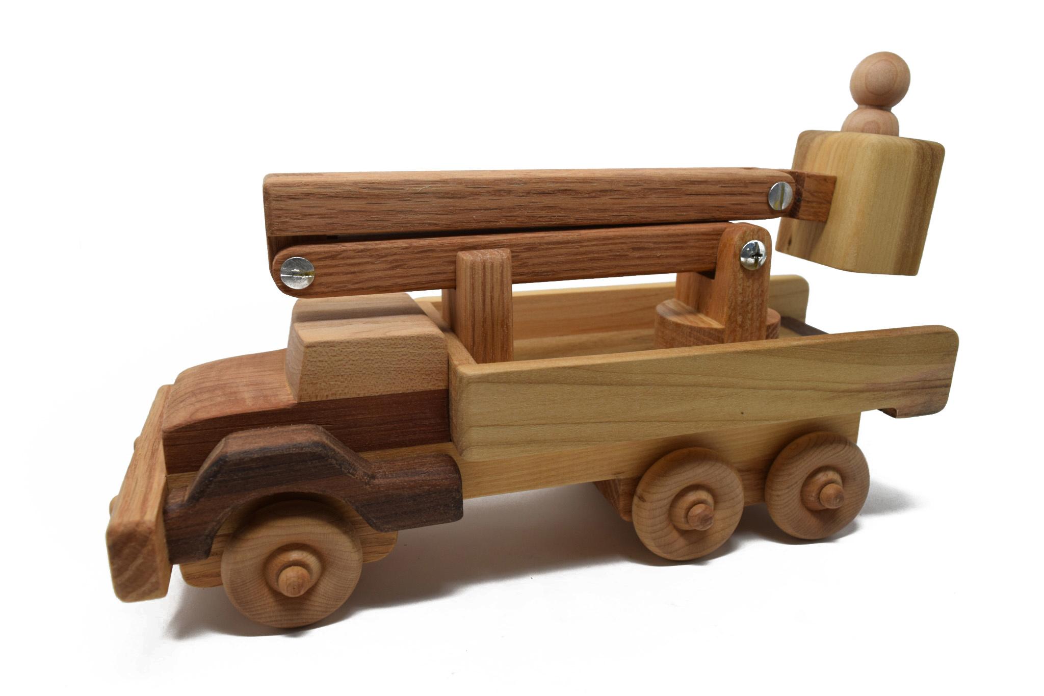 Wooden Bucket Truck Toy-1