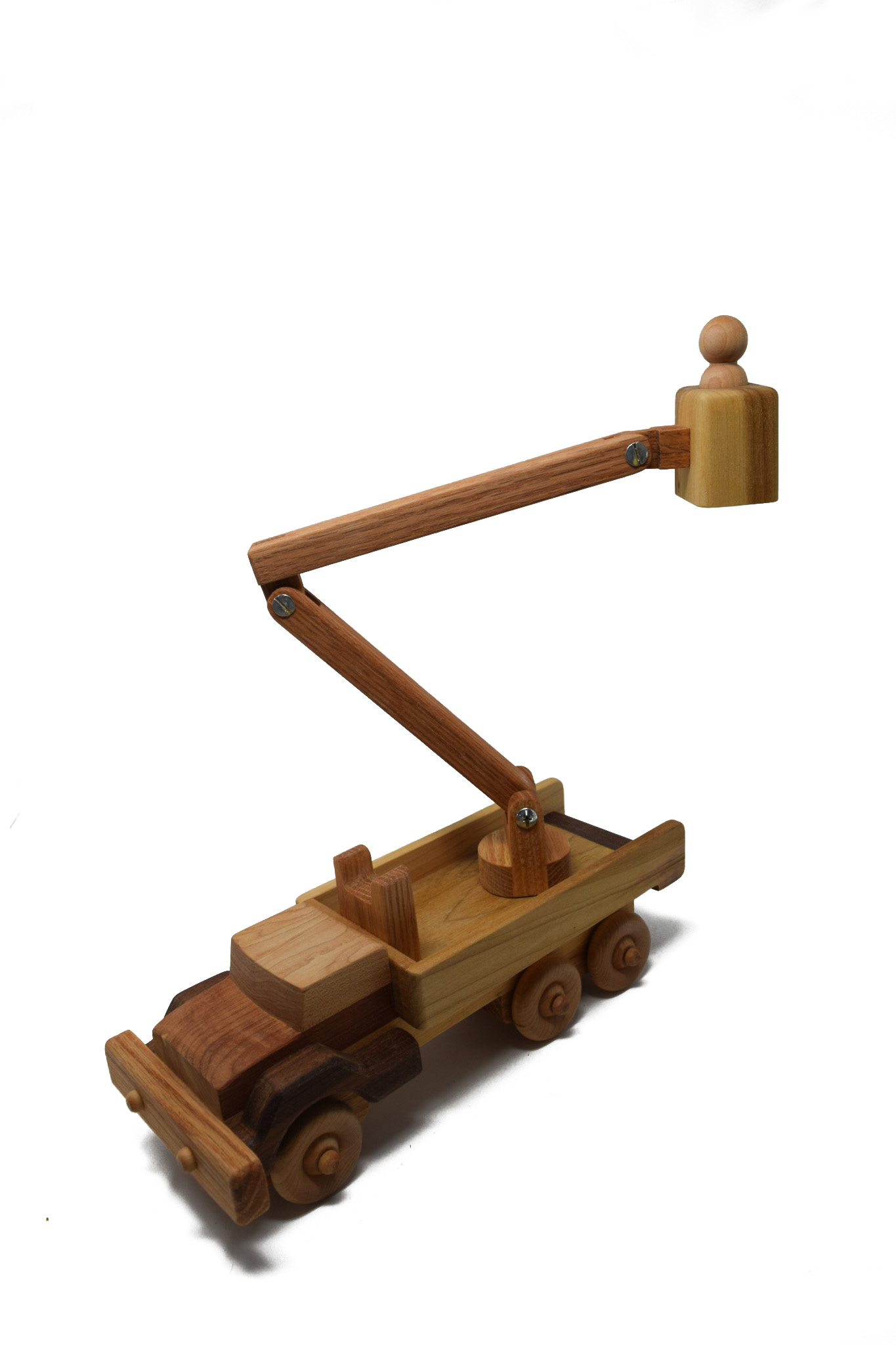 Wooden Bucket Truck Toy-2