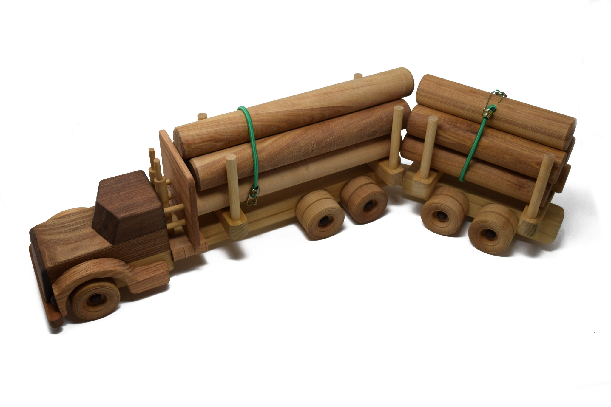 Wooden Log Truck Toy-1