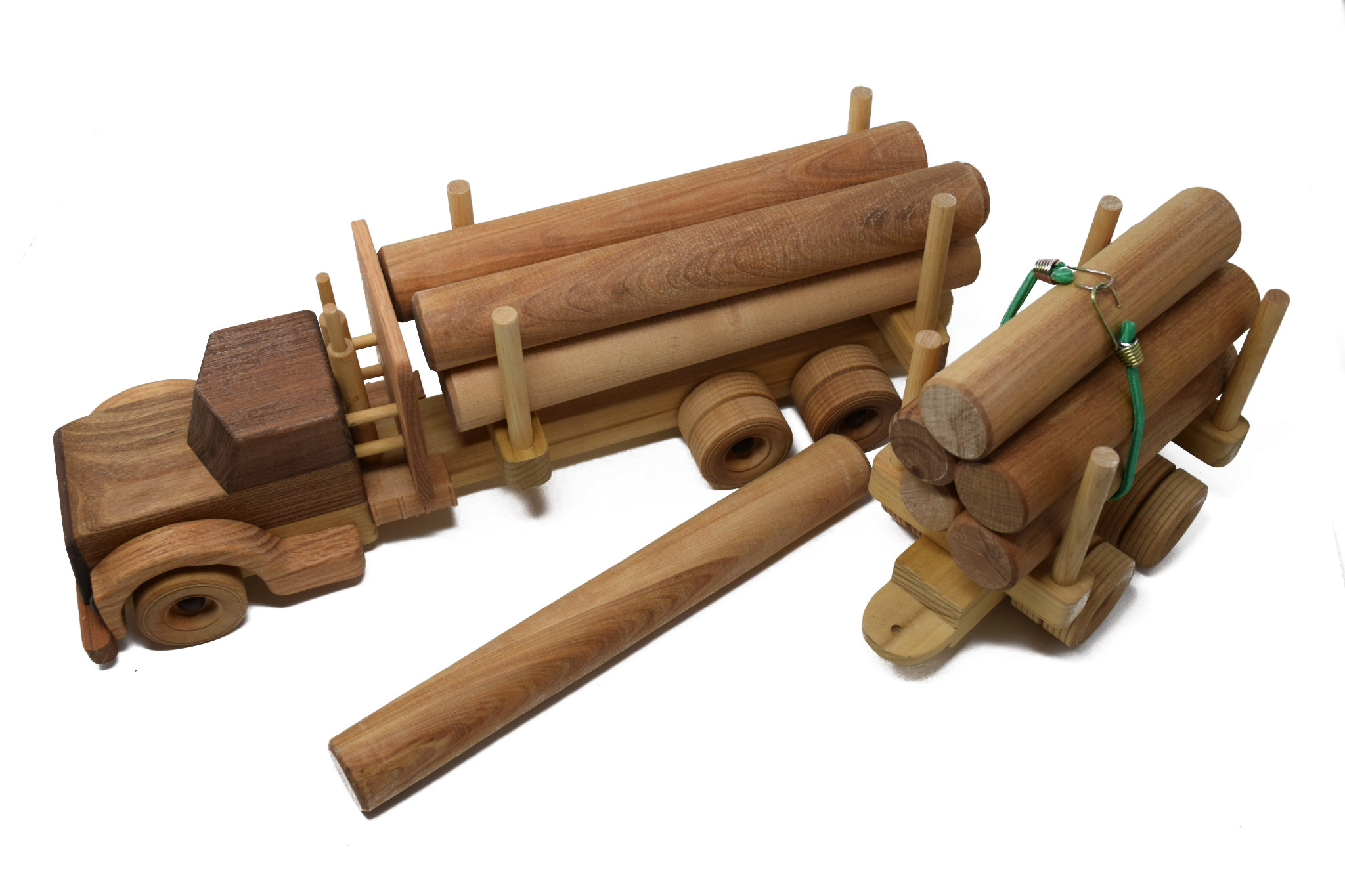 Wooden Log Truck Toy-2