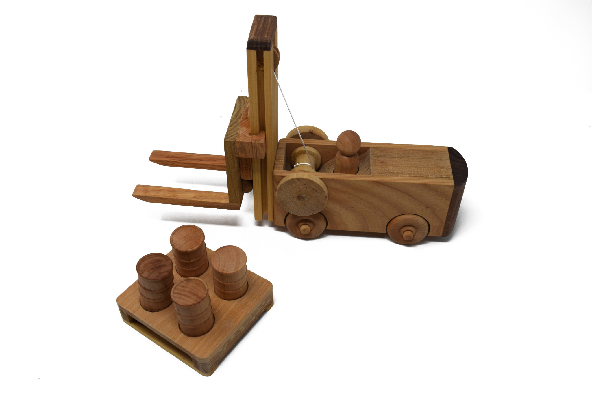 Wooden Forklift Toy-2