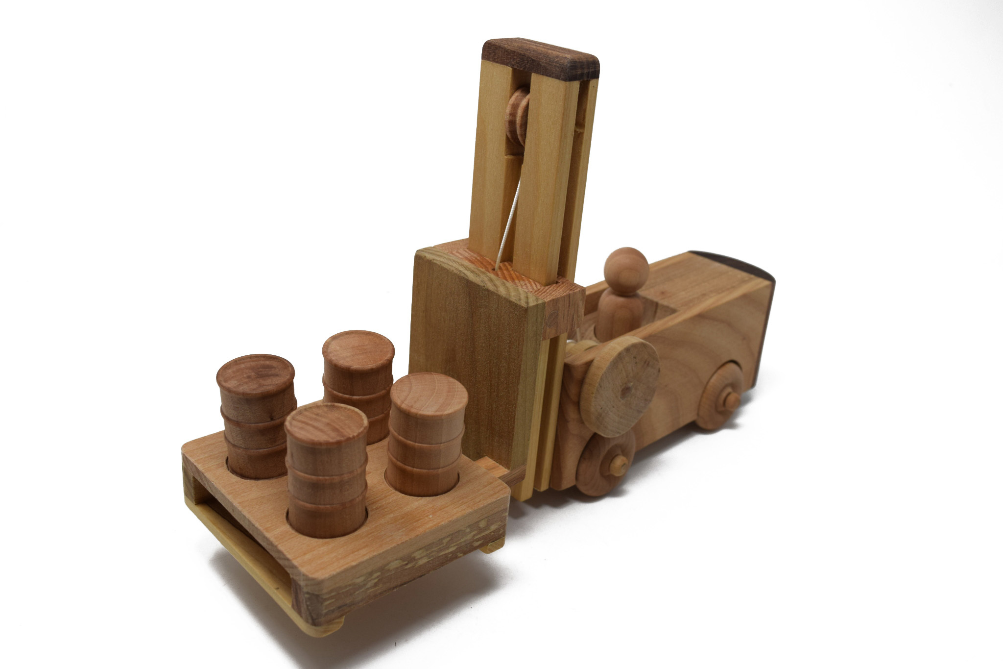 Wooden Forklift Toy-3