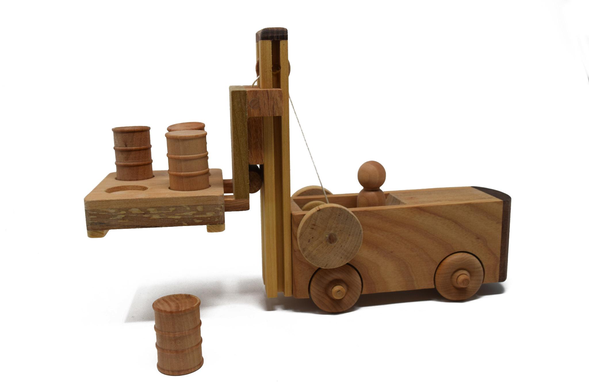 Wooden Forklift Toy-1