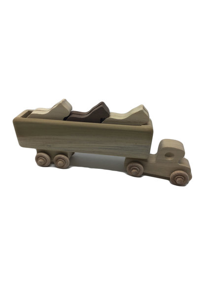 Wooden Horse Truck Toy