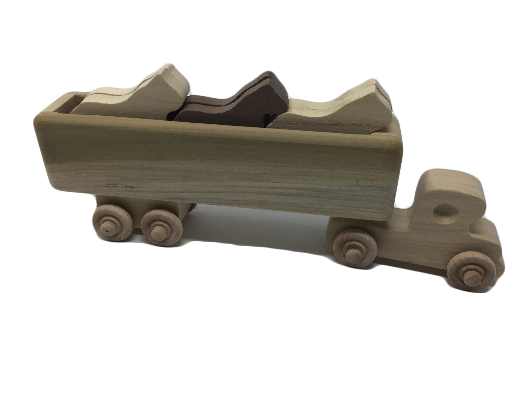 Wooden Horse Truck Toy-1