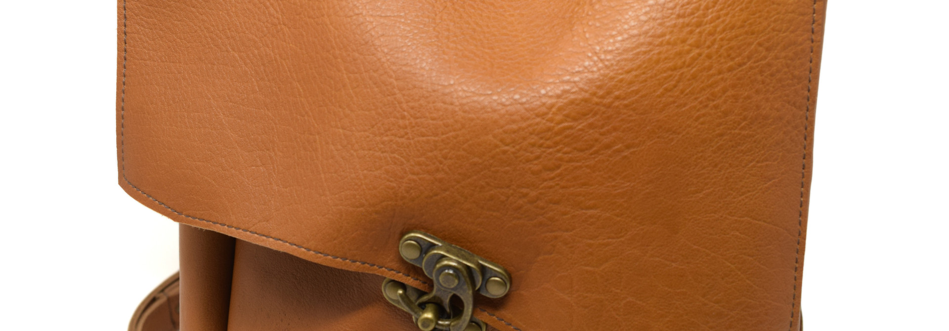 Small Leather Backpack Light Burnt Sienna