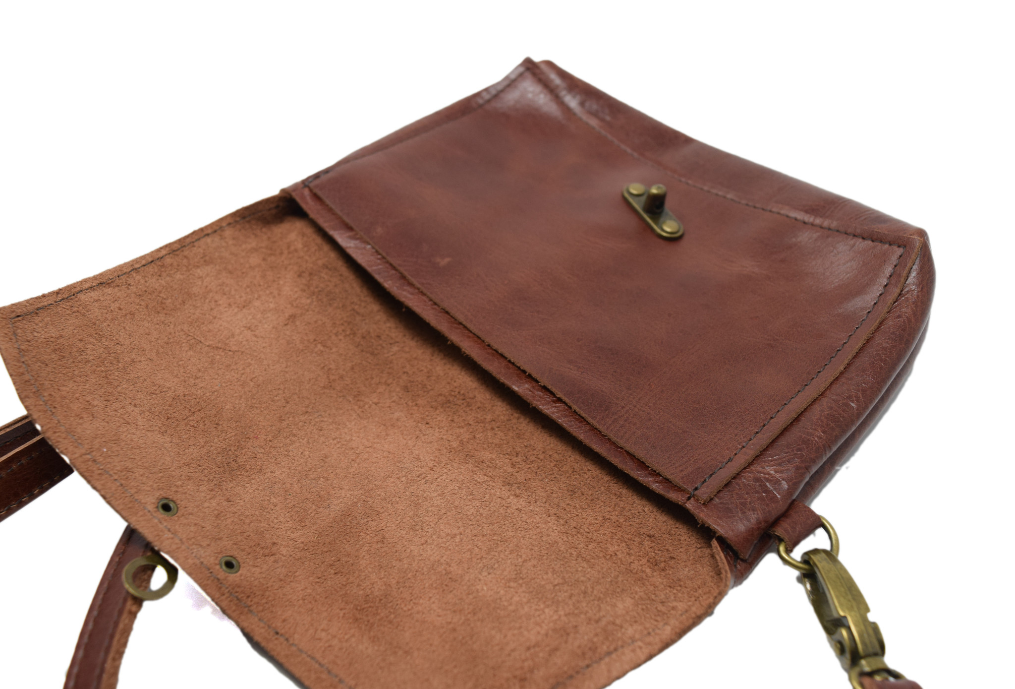 Minimalist Leather Purse Light Brown-3
