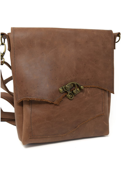 Leather Crossbody Light Brown