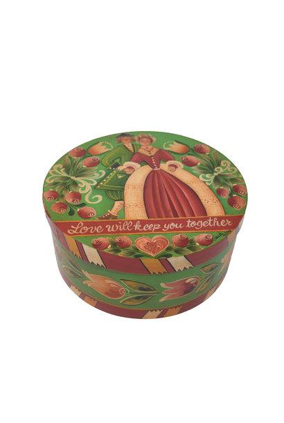 Round Green Wedding Box