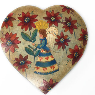 Heart Box with Angel & Flowers-1