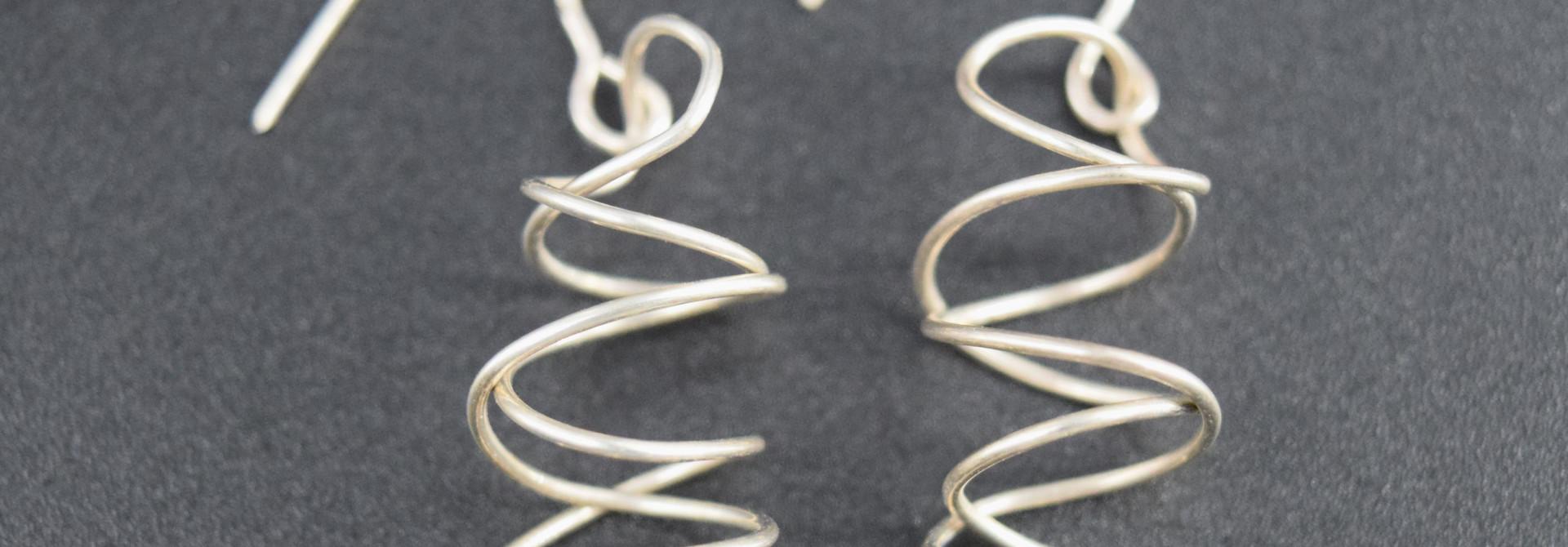 Sterling Wire Earring