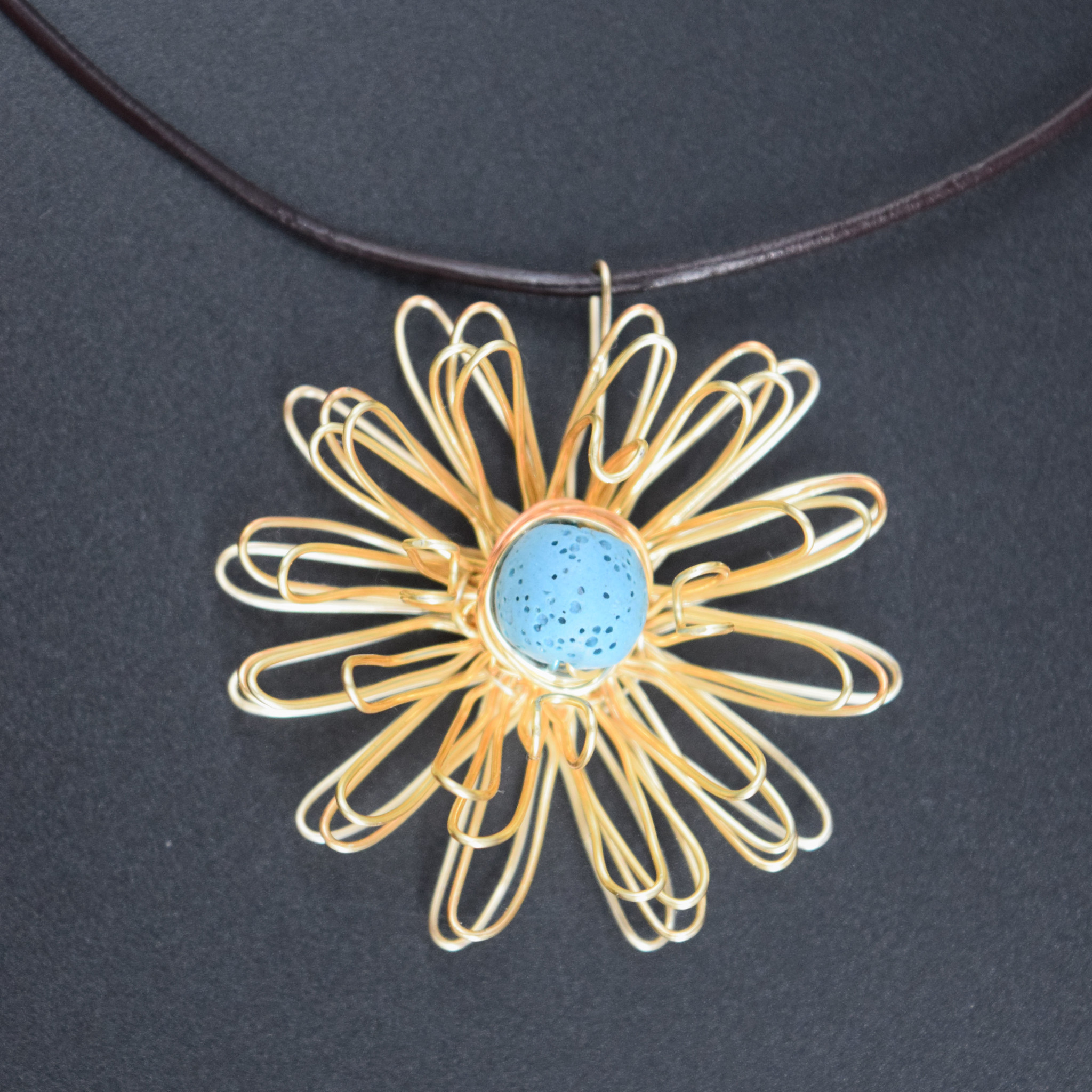 Diffuser Zinna Pendant necklace-1