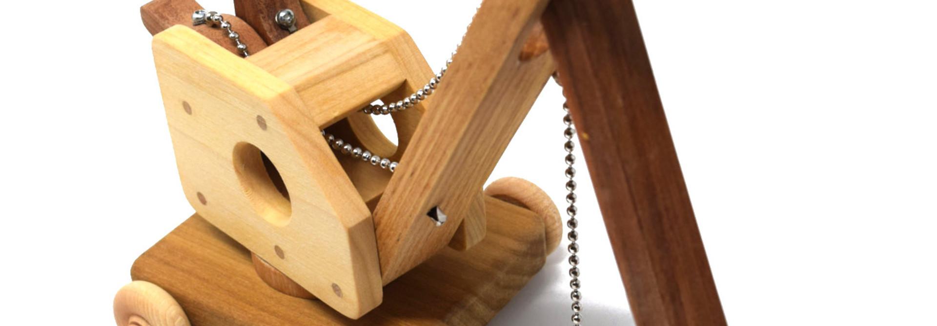 Wooden Steam Shovel Toy
