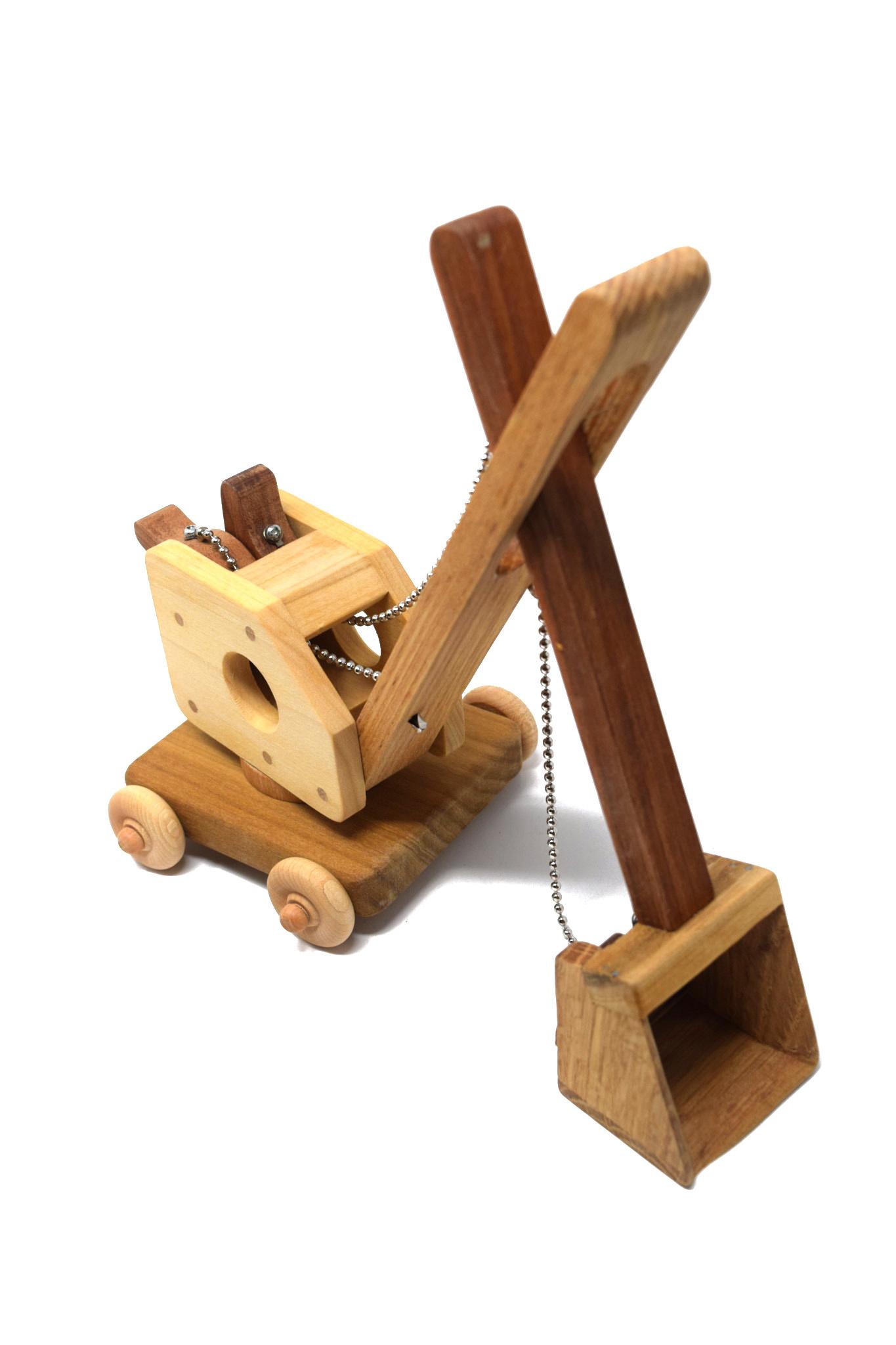 Wooden Steam Shovel Toy-1