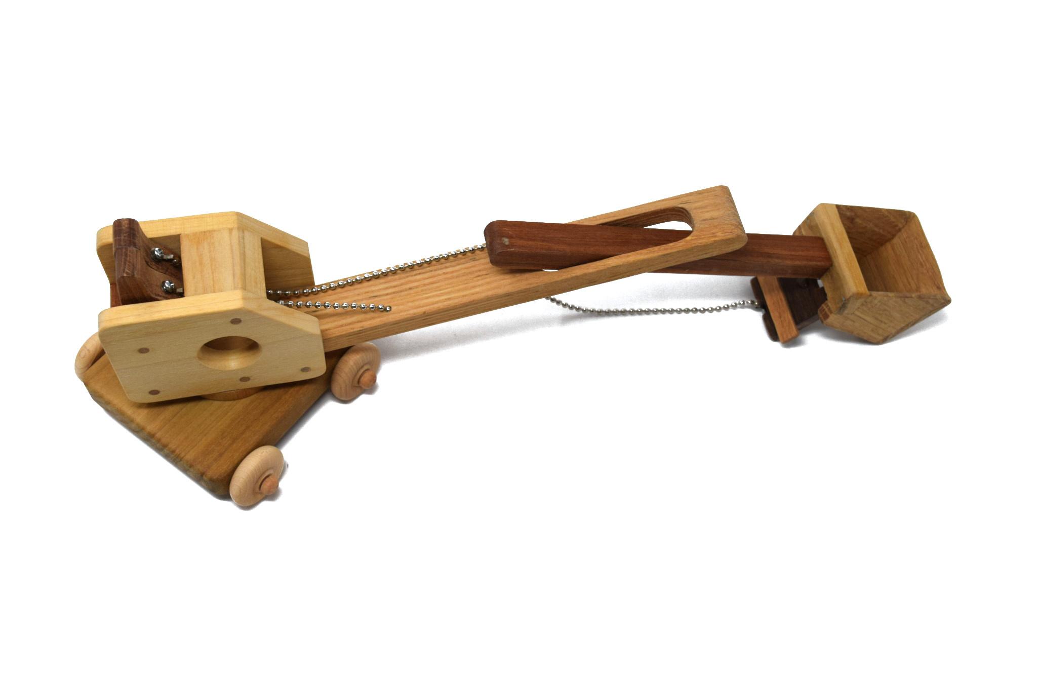Wooden Steam Shovel Toy-2