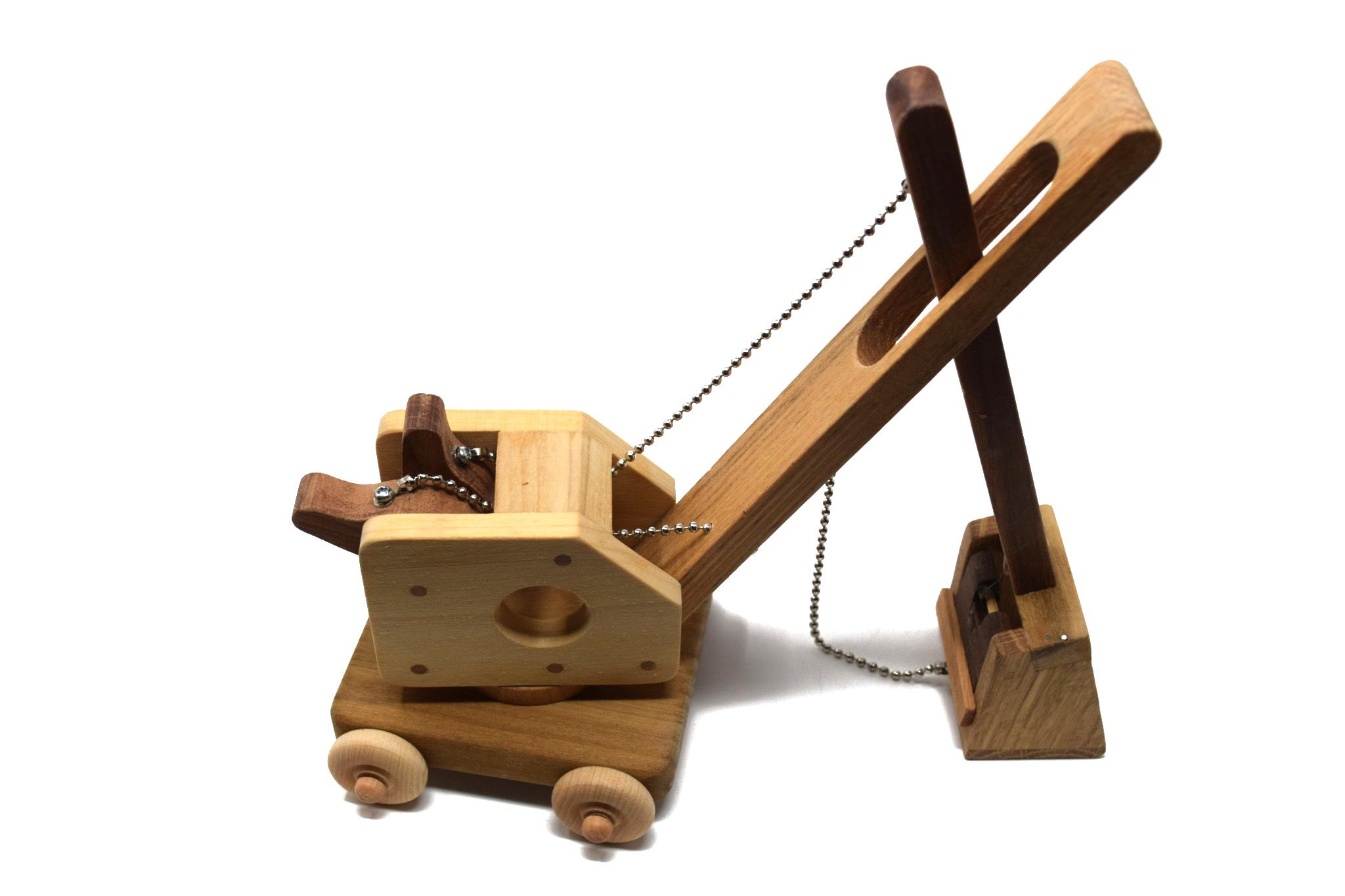 Wooden Steam Shovel Toy-3