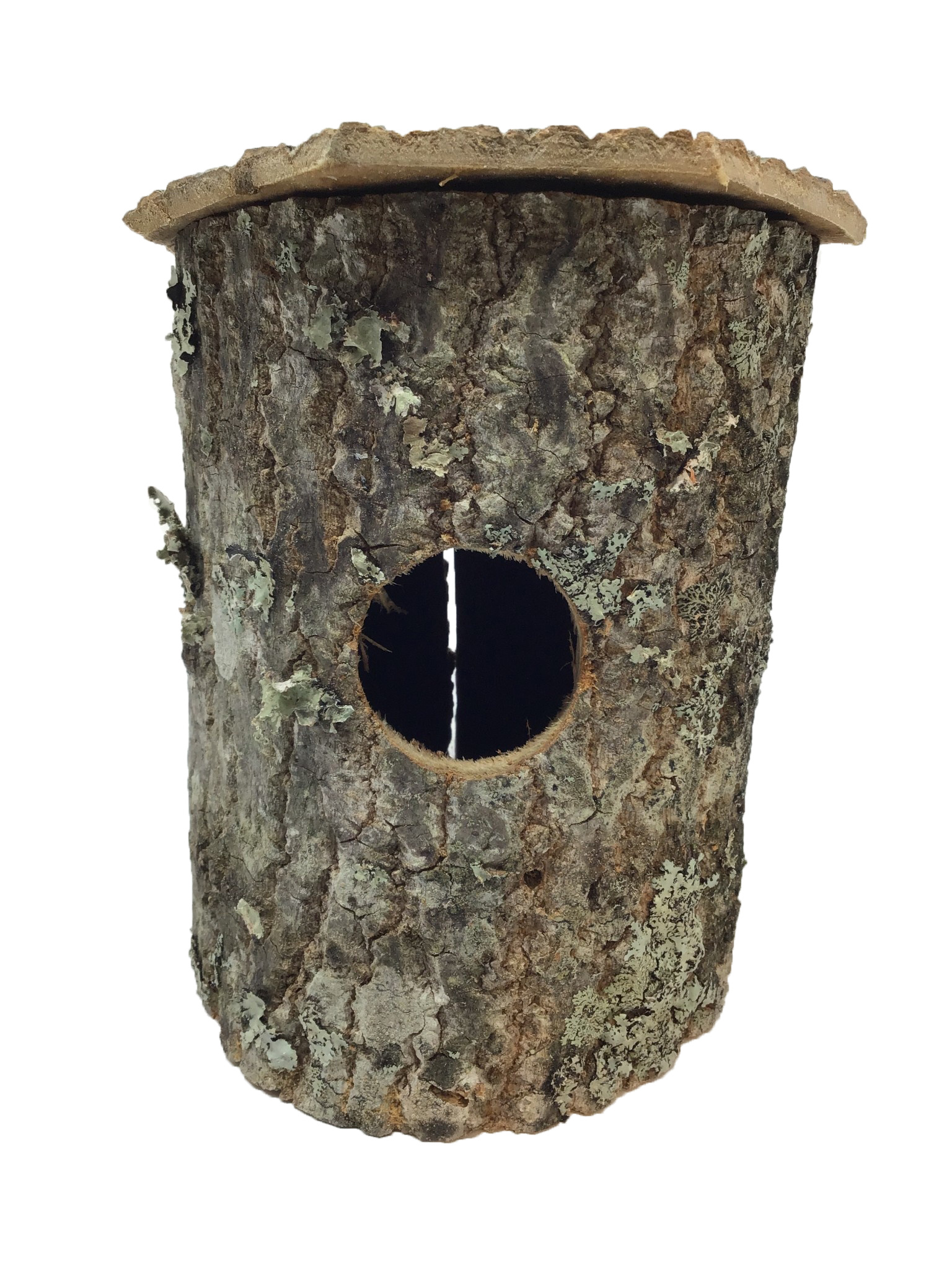Large Bark Bird House-1