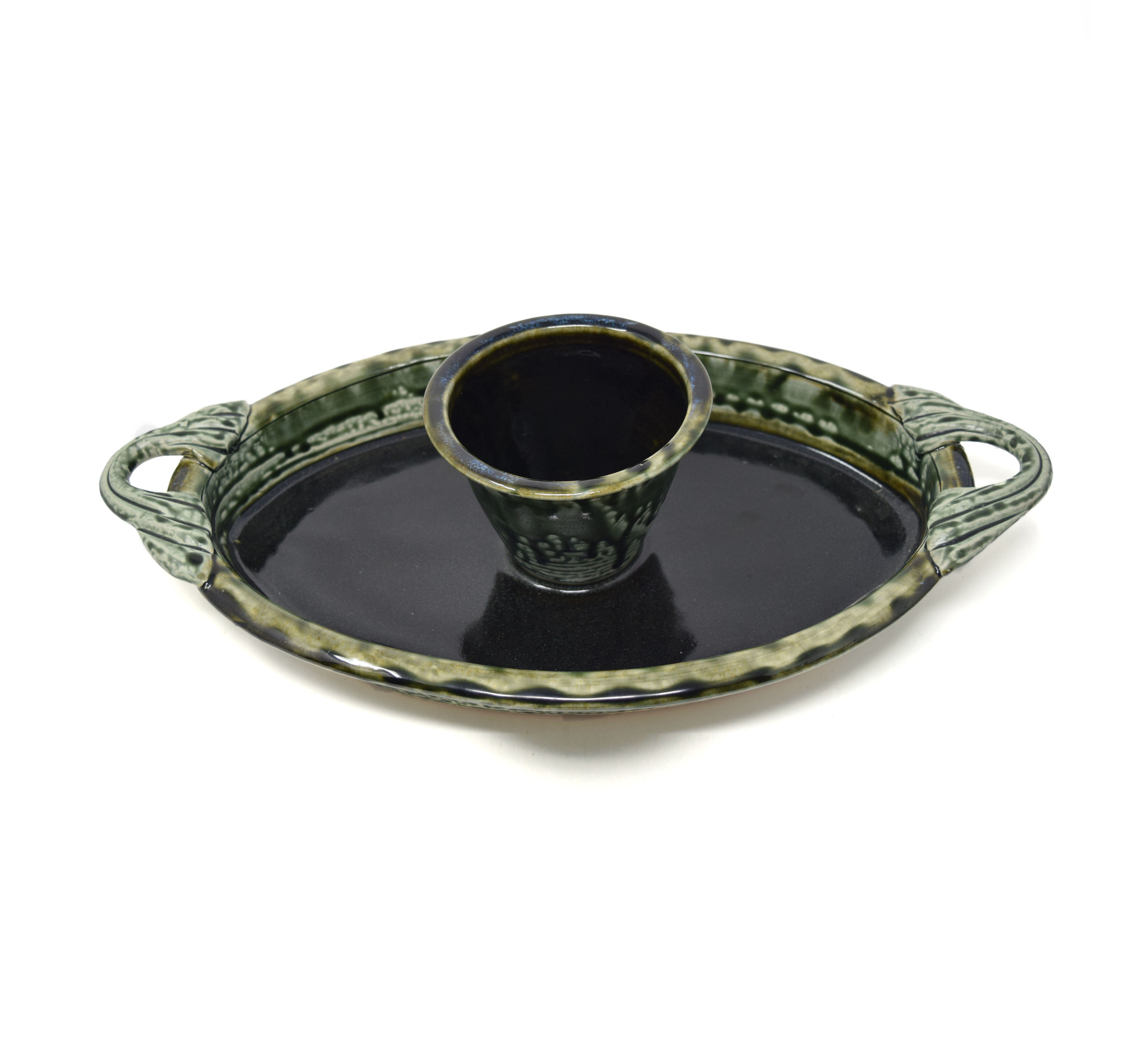 Oval Chip and Dip Dish-3