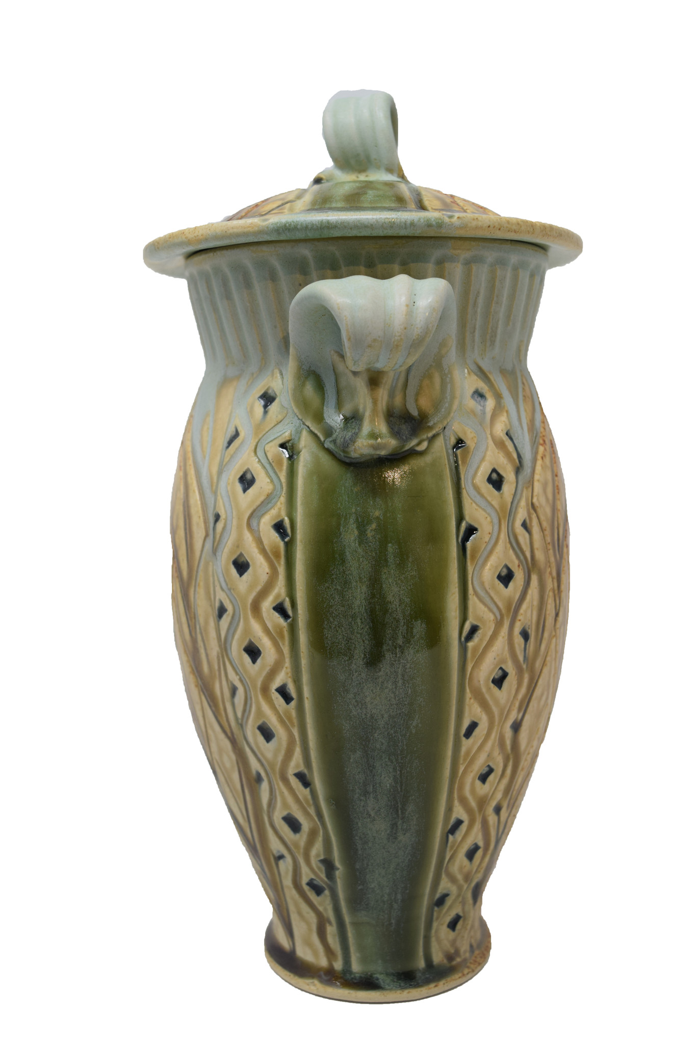 Small Carved Jar-5