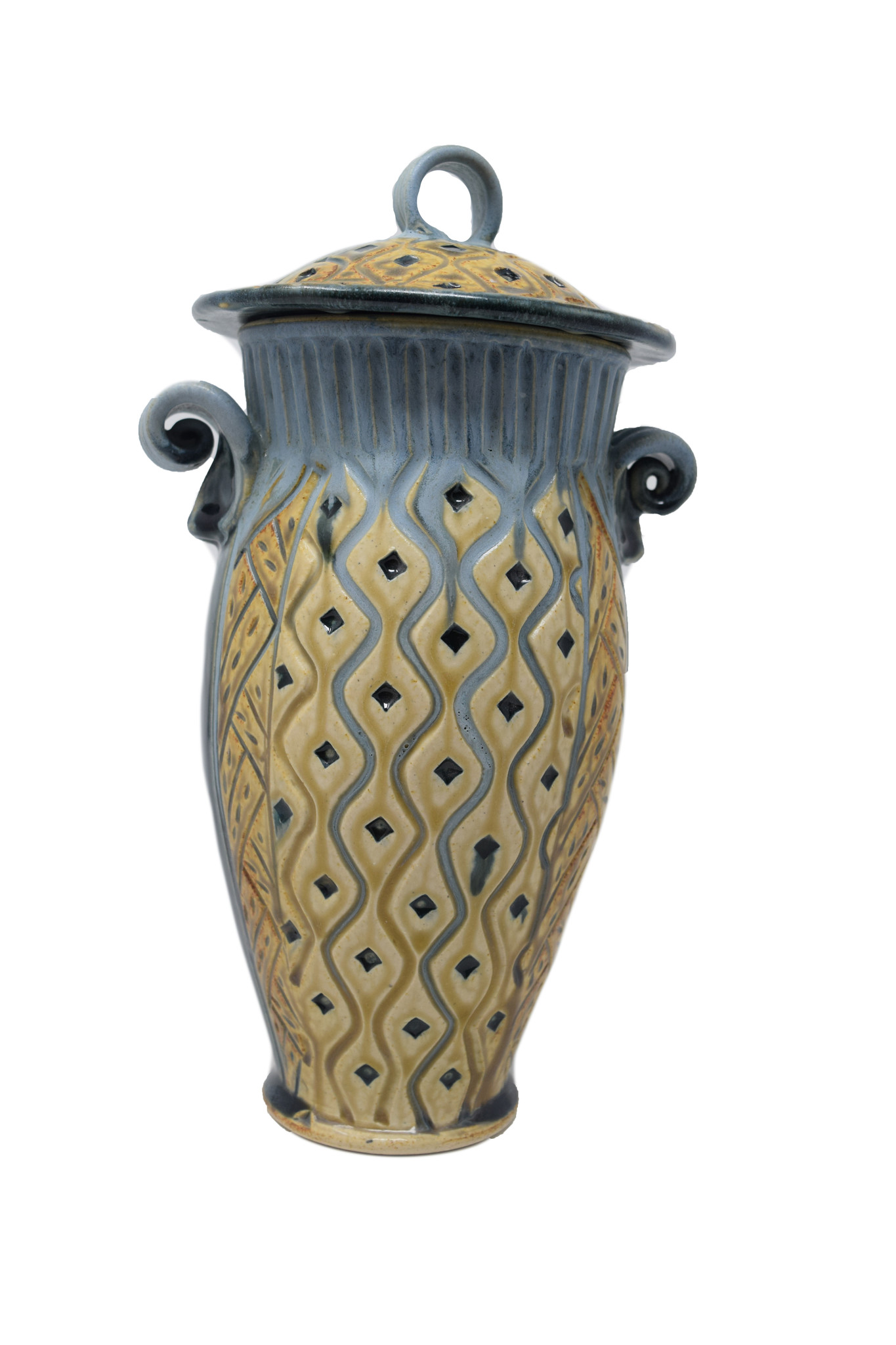 Small Carved Jar-1