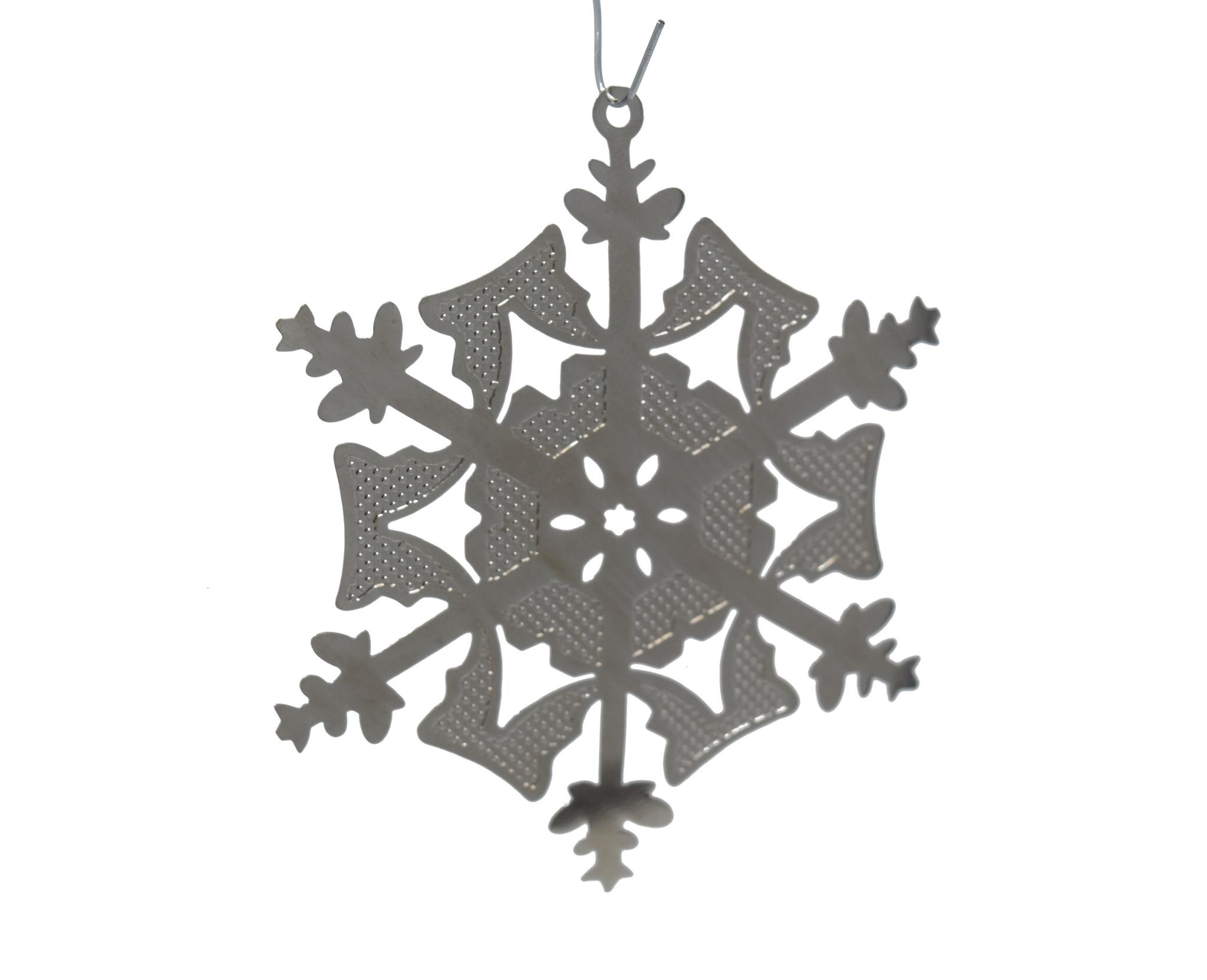 Textured snowflake-2