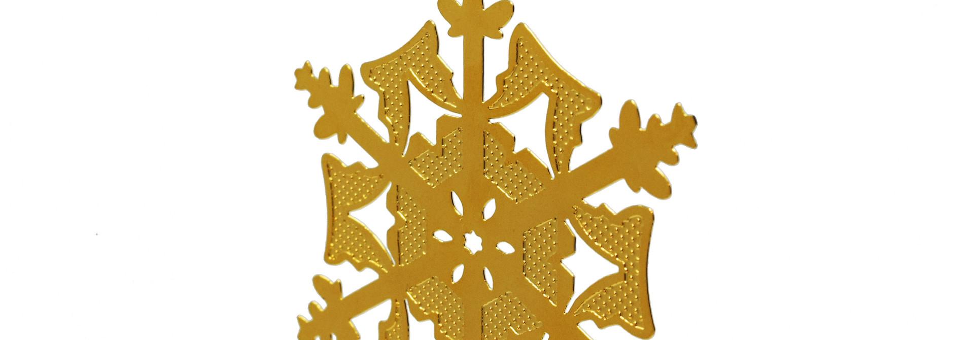 Textured snowflake