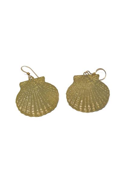 Scalloped Shell Earring