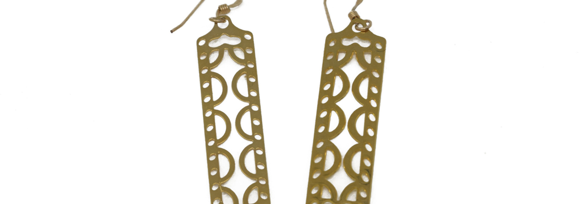 Filigree Rectangle Earring