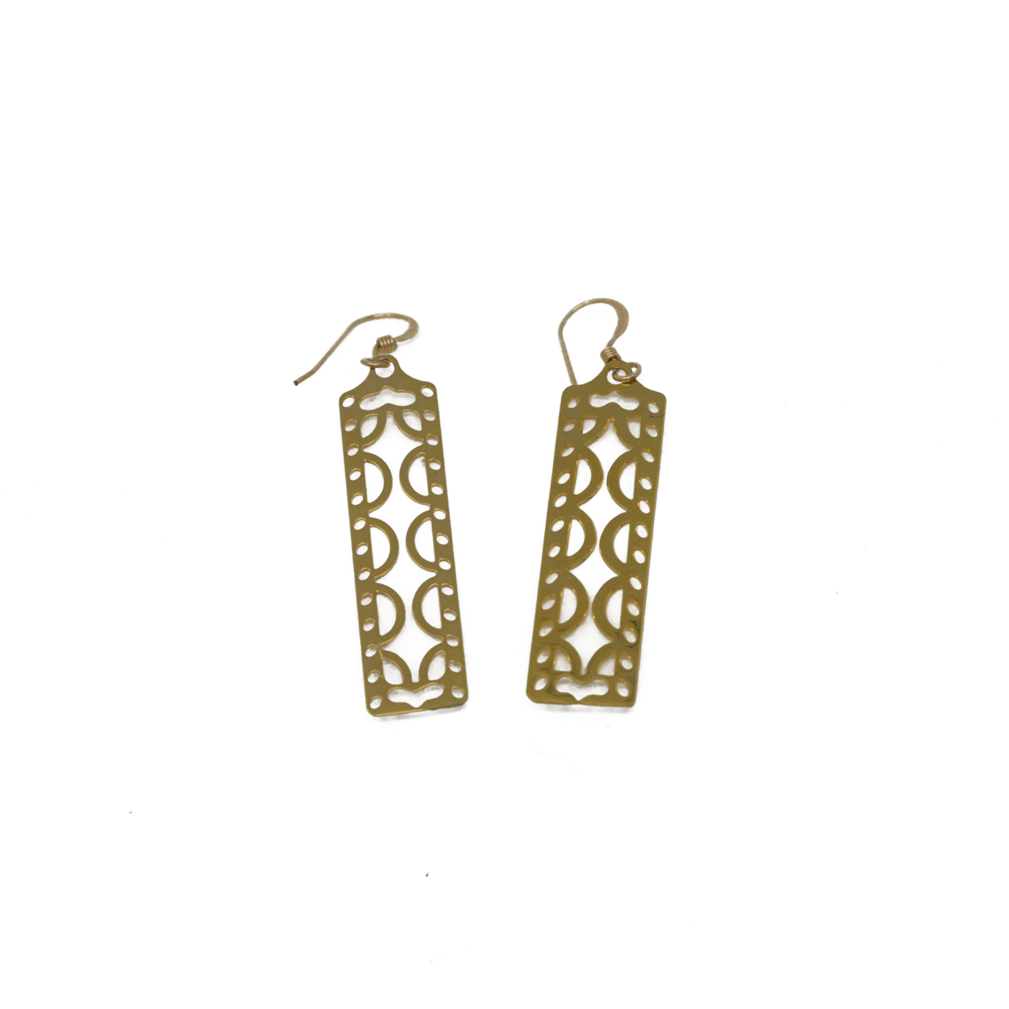 Filigree Rectangle Earring-1