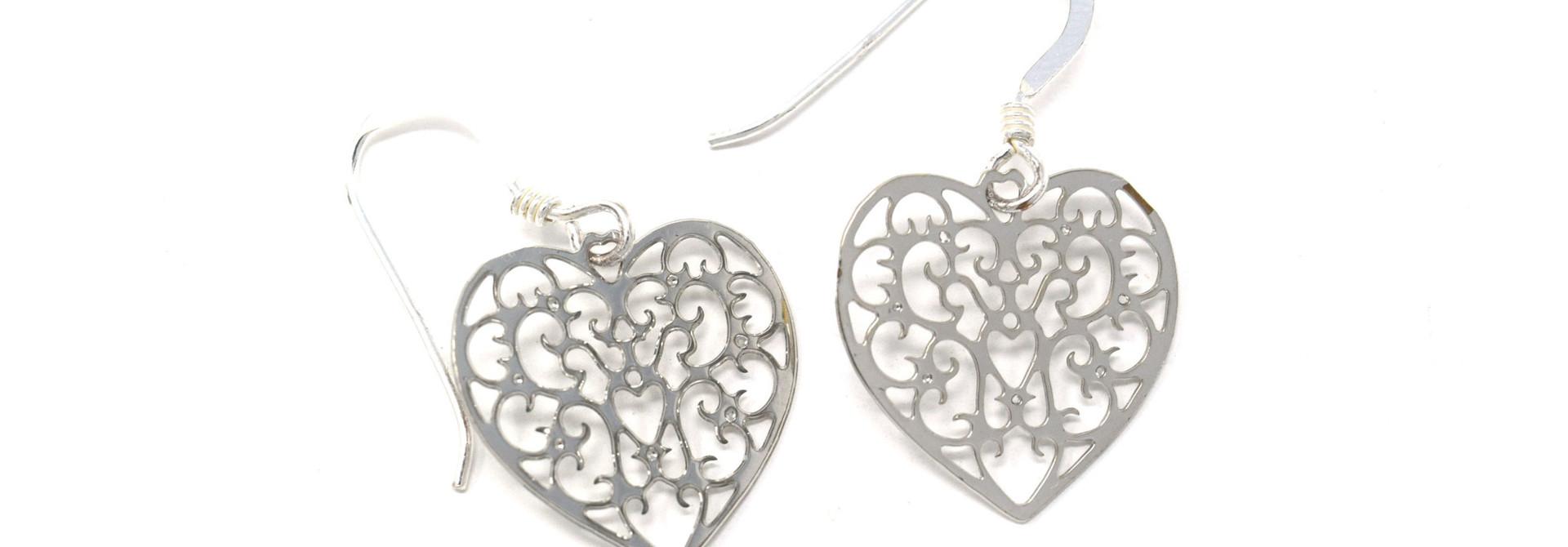 Filigree Heart Earring