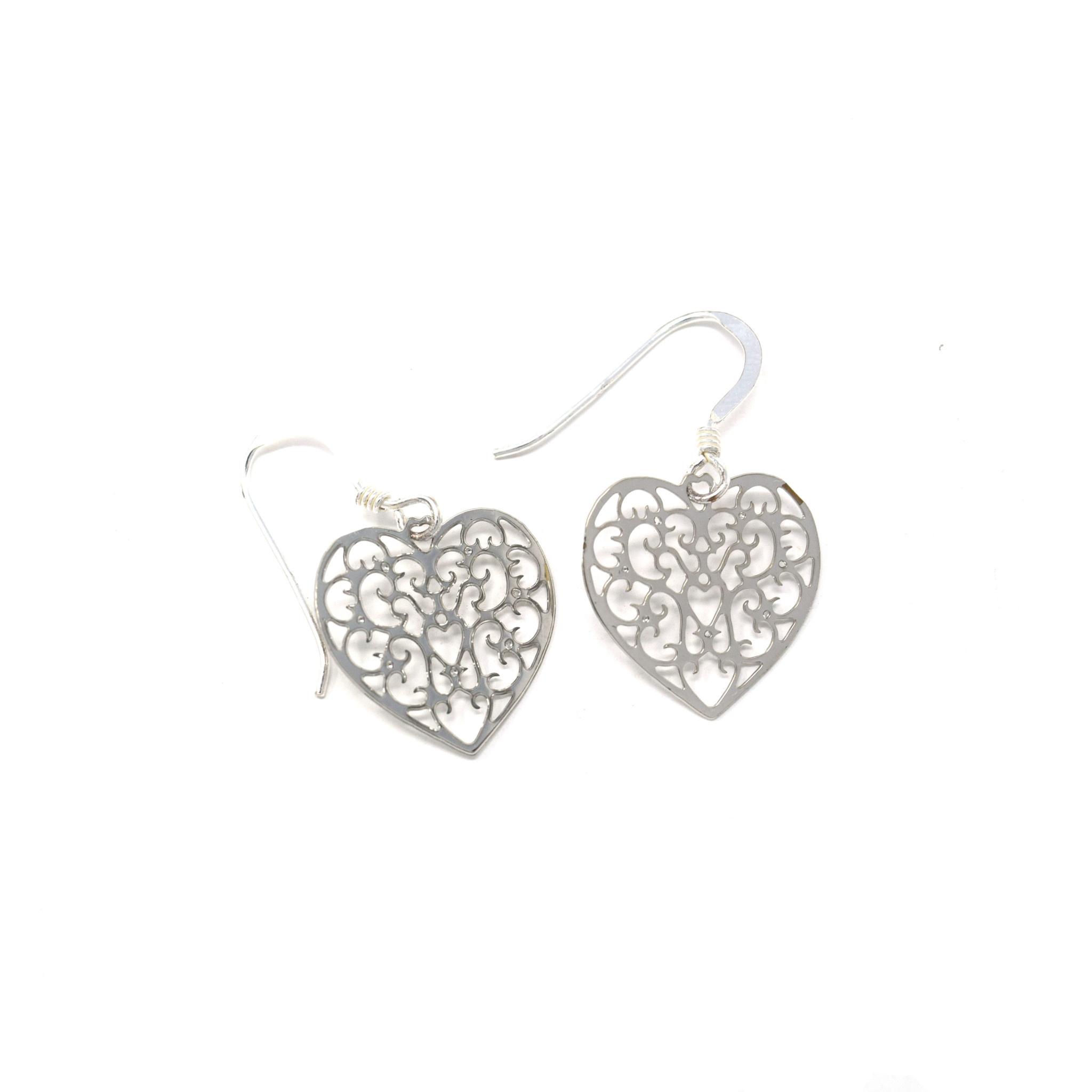 Filigree Heart Earring-1
