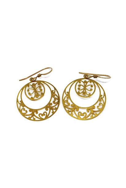 Double Circle Earring