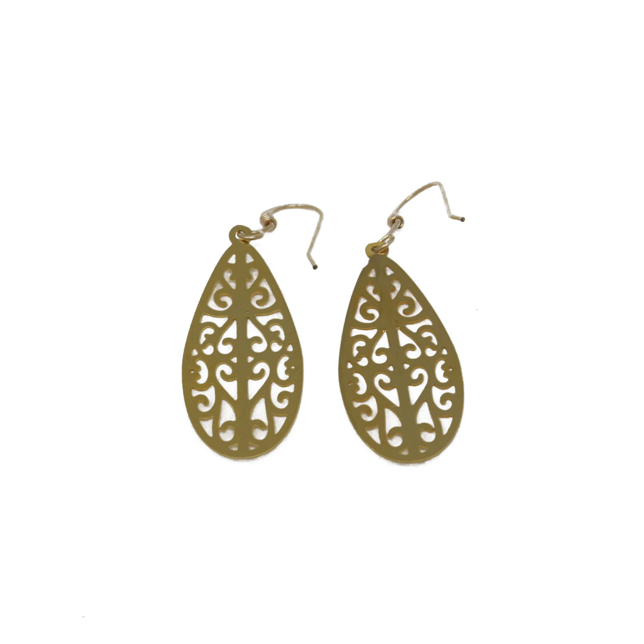 Filigree Teardrop Earring-1