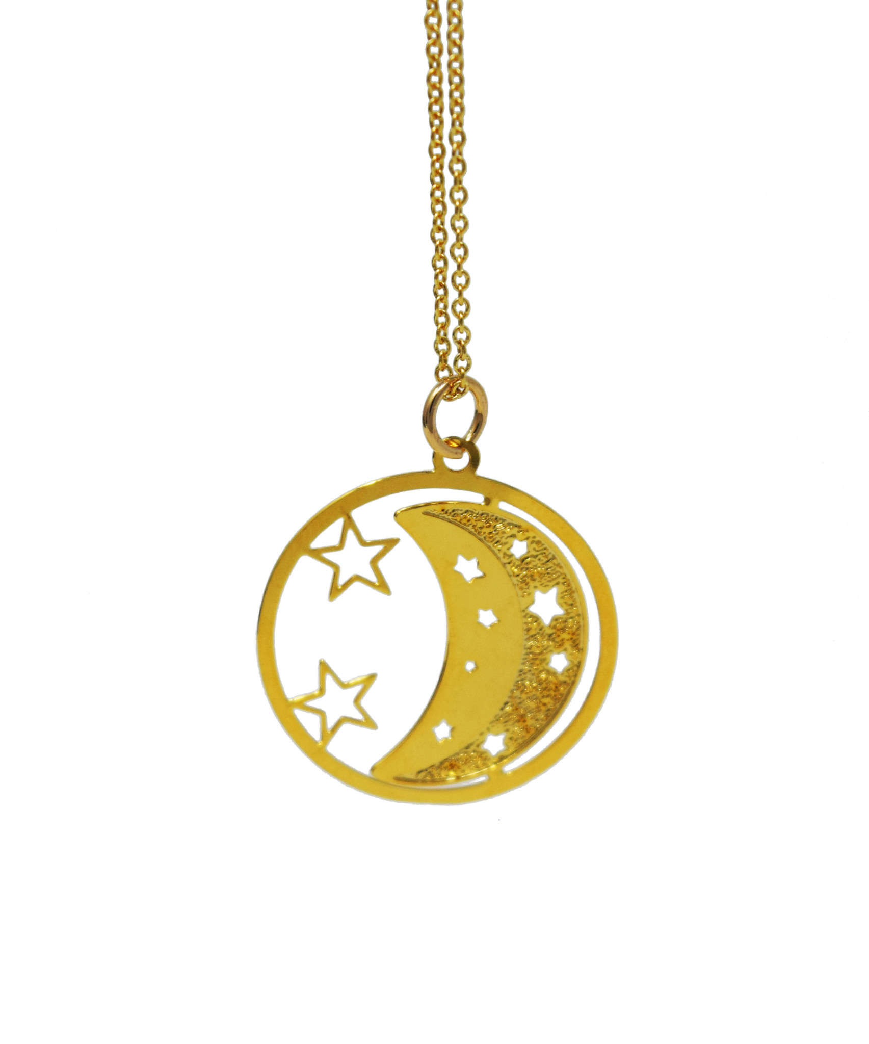 Moon and Stars Necklace-1