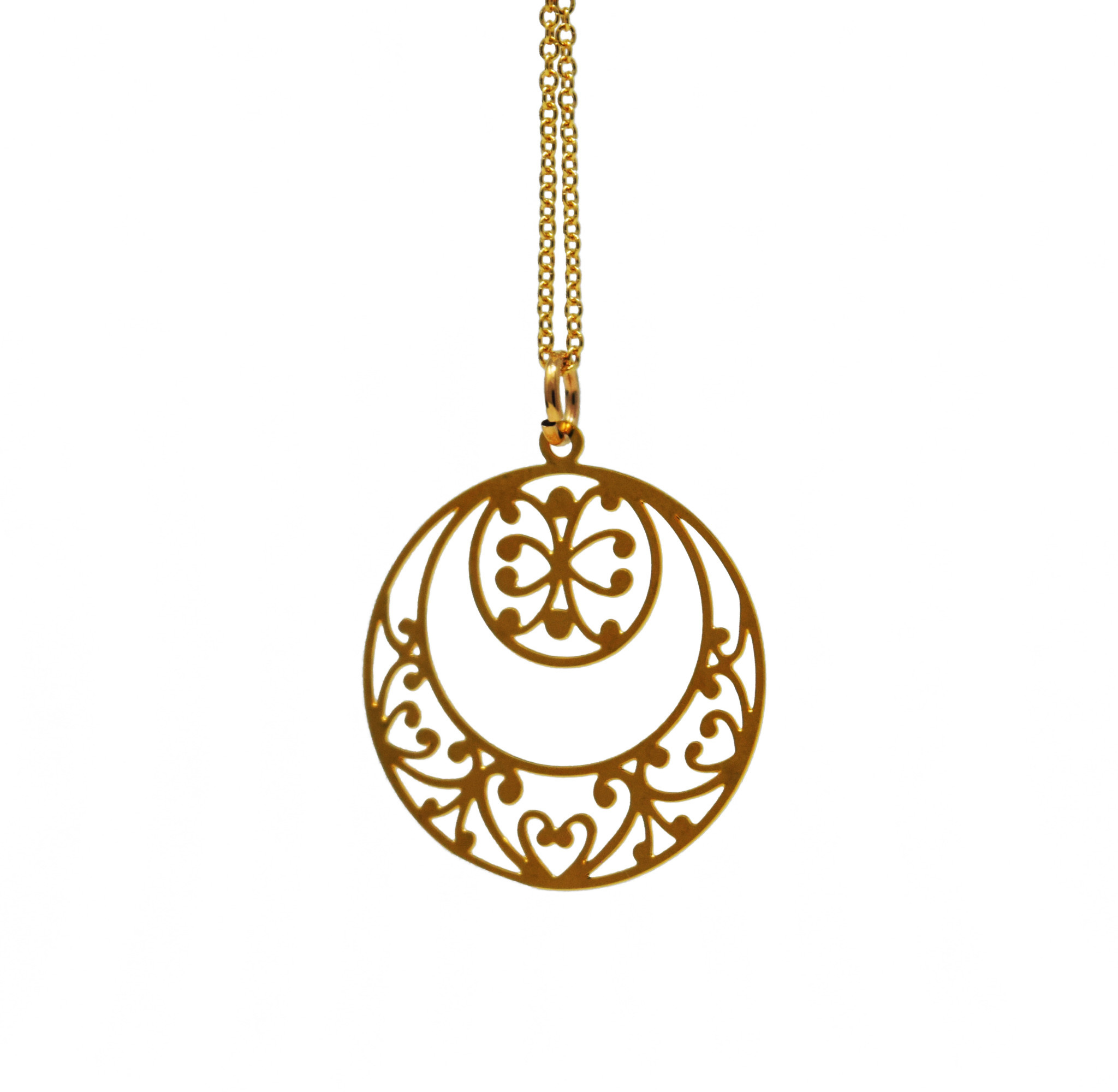 Double Circle Necklace-1
