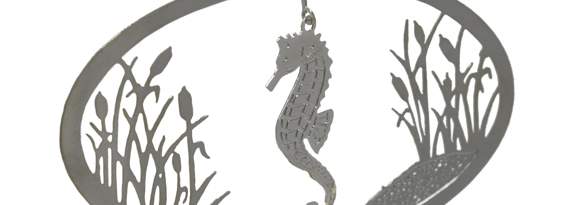 Seahorse with Cattails