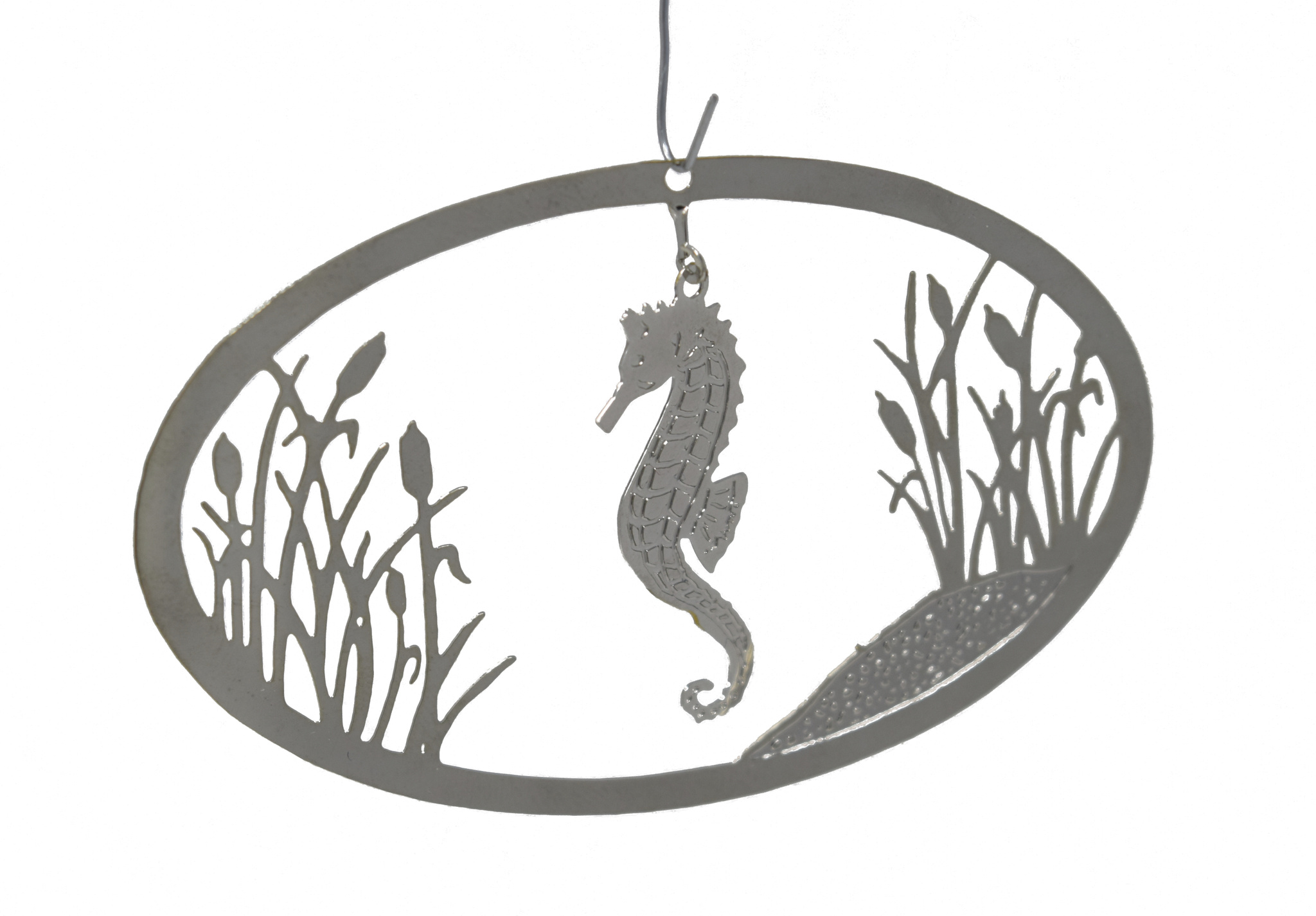 Seahorse with Cattails-1